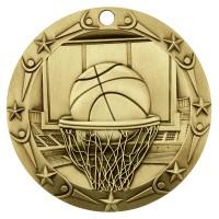 3'' World Class Basketball Medallion Gold