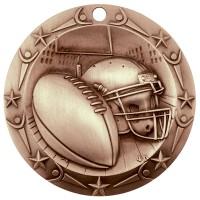 3'' World Class Football Medallion Bronze