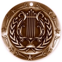 3'' World Class Music Medallion Bronze