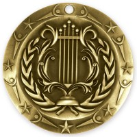 3'' World Class Music Medallion Gold