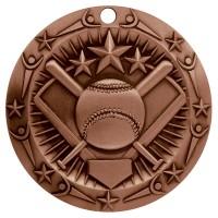 3'' World Class Softball Medallion Bronze