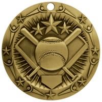 3'' World Class Softball Medallion Gold
