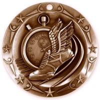 3'' World Class Track Medallion Bronze
