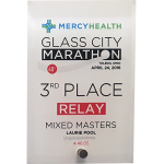 "5"" x 7"" Full Color Stand Up Vertical Glass Plaque"