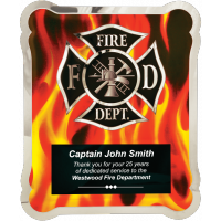 Firefighter Hero Plaque