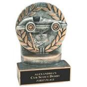 Pinewood Derby Resin Trophies