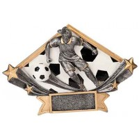 4 1/4 x 6 1/4 Female Soccer Diamond Star Resin