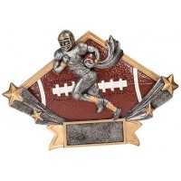 4 1/4 x 6 1/4 Male Football Diamond Star Resin