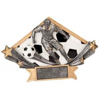 4 1/4 x 6 1/4 Male Soccer Diamond Star Resin