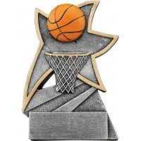 5 1/2 inch Basketball Jazz Star Resin