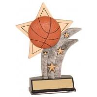 5 1/2 inch Basketball Sport Star Resin