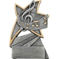 5 1/2 inch Music Jazz Star Resin