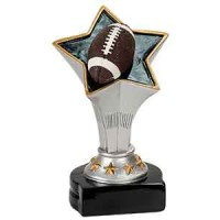 5 3/4 inch Football Rising Star Resin