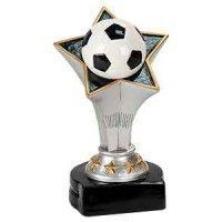 5 3/4 inch Soccer Rising Star Resin