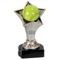 5 3/4 inch Softball Rising Star Resin