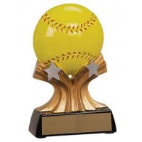5 inch Softball Shooting Star Resin