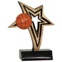 6 inch Basketball Infinity Star Resin