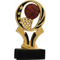 6 inch Basketball Midnight Star Resin
