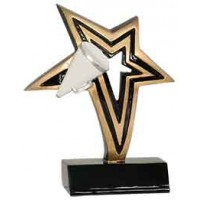6 inch Cheer Infinity Star Resin