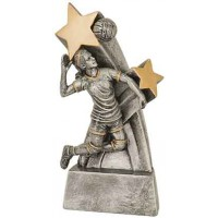 6 inch Female Volleyball Super Star Resin