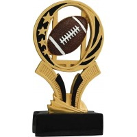 6 inch Football Midnight Star Resin