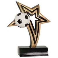 6 inch Soccer Infinity Star Resin