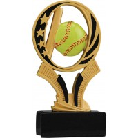 6 inch Softball Midnight Star Resin
