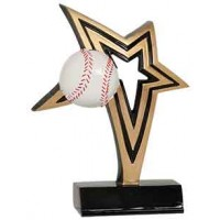 7 inch Baseball Infinity Star Resin