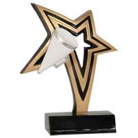 7 inch Cheer Infinity Star Resin