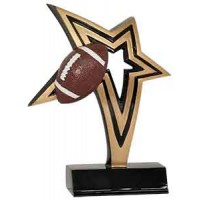 7 inch Football Infinity Star Resin