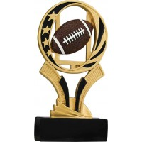 7 inch Football Midnight Star Resin