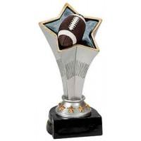 7 inch Football Rising Star Resin
