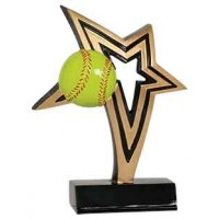 7 inch Softball Infinity Star Resin