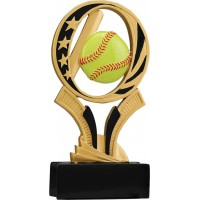 7 inch Softball Midnight Star Resin
