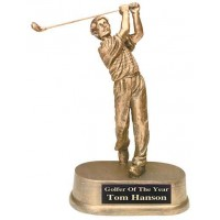 8 3/4 inch Antique Gold Male Golf Resin
