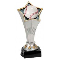 8 3/4 inch Baseball Rising Star Resin