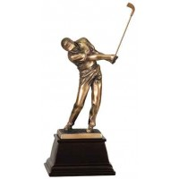 8 3/4 inch Bronze Male Golf Resin Award