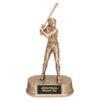 9 1/4 inch Antique Gold Female Softball Resin