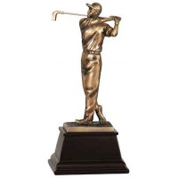 9 3/4 inch Bronze Male Golf Resin Award