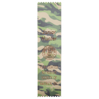 #1 - 2 x 8 Custom Green Camo Award Ribbon