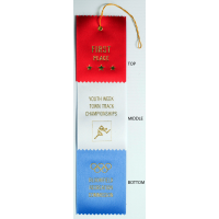 #8 Custom 3 x 12 - 3 Layer Award Ribbon