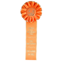 #116 Gold Edge Award Rosette