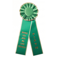 #119 - Gold Edge - Custom Award Rosette