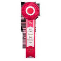 #233 Custom Award Rosette