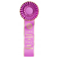 #400 Gold Edge Award Rosette