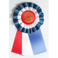 #AM104 - Red, White & Blue Award Rosette