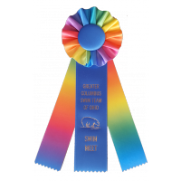 #R200 - Custom Rainbow Award Rosette