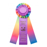 #R227 - Custom Rainbow Award Rosette
