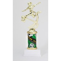 "10"" SOCCER FEMALE MOTION TROPHY"