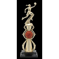 "13"" BASKETBALL FEMALE COLOR SPORT TROPHY"